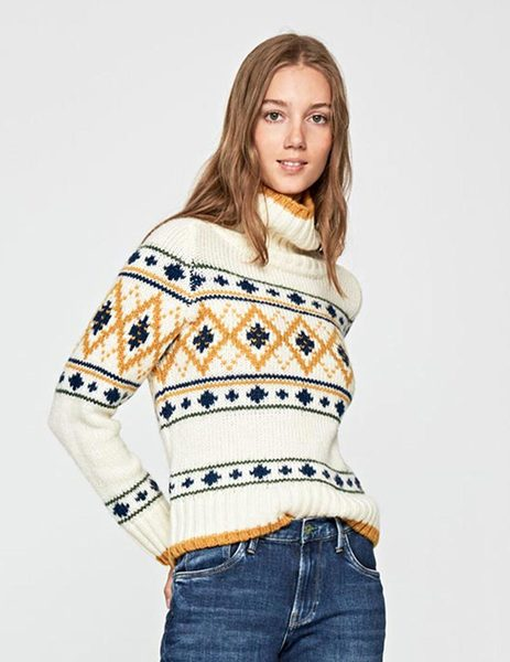 Jersey Pepe Jeans Frenchsister Beige Para Mujer