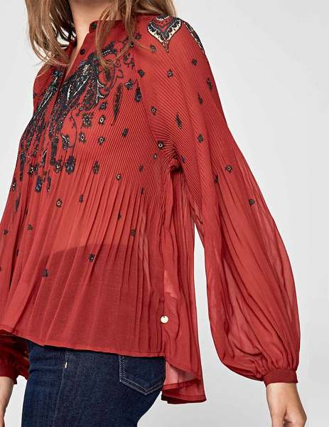 Gallery blusa pepe jeans denisse rojo de mujer 2