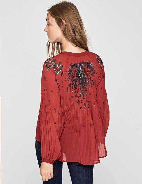 Gallery blusa pepe jeans denisse rojo de mujer