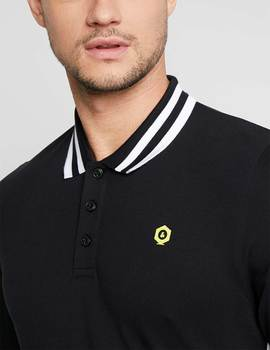 Thumb polo jack and jones jcobrooke negro de hombre 3