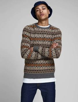 Thumb jersey jack and jones jprhowel gris de hombre