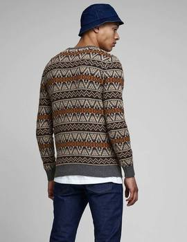 Thumb jersey jack and jones jprhowel gris de hombre 1