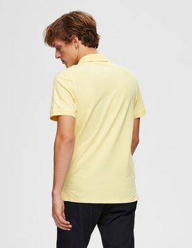 Thumb polo selected slharo amarillo para hombre 5