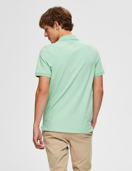 Thumb polo selected slharo verde claro para hombre 5