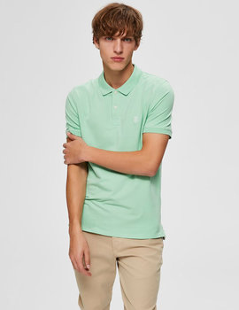Thumb polo selected slharo verde claro para hombre 6