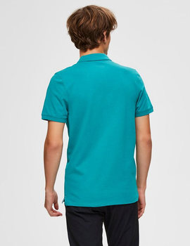 Thumb polo selected slharo verde para hombre 6