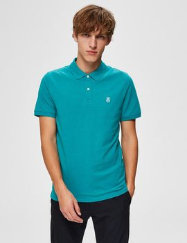 Thumb polo selected slharo verde para hombre 7