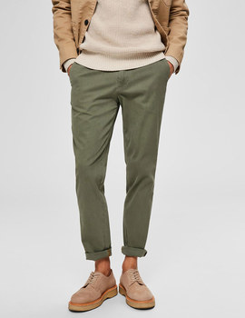 Thumb pantalon selected slhslim yard verde de hombre 5
