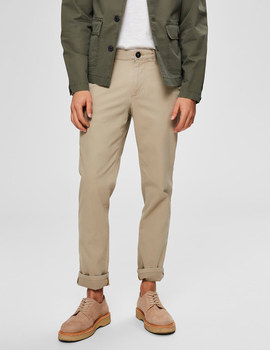 Thumb pantalon selected slhslim yard beige de hombre 5