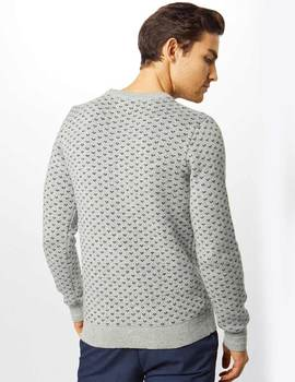 Thumb jersey jack and jones jorjulian gris para hombre 2