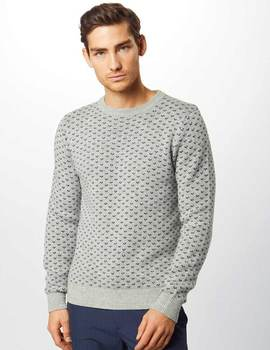 Thumb jersey jack and jones jorjulian gris para hombre 1