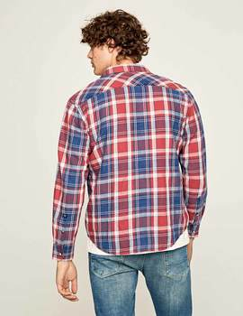Thumb camisa pepe jeans stanley roja para hombre 4
