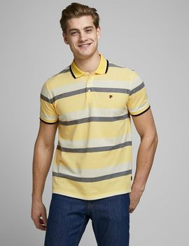 Thumb polo jack jones jprrise amarillo para hombre.