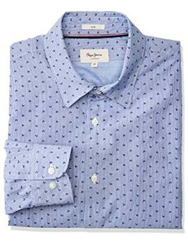 Thumb camisa pepe jeans pierre azul para hombre 3