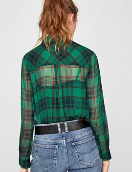 Camisa Pepe Jeans Jerry verde para mujer