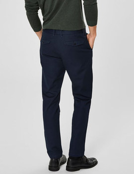 Thumb pantalon selected slhslim carlo azul 6