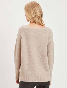 Jersey Vila VIPLACE beige para mujer