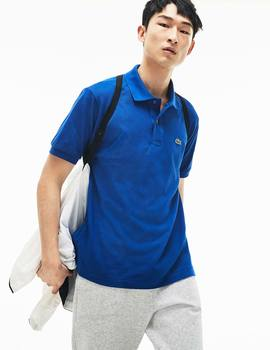 Thumb polo lacoste classic fit azul electric de hombre 2