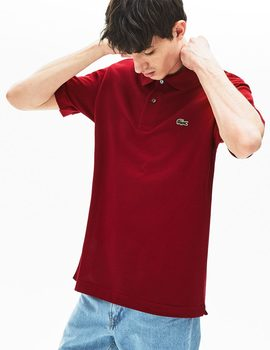 Thumb polo lacoste classic fit granate de hombre 3