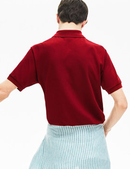 Thumb polo lacoste classic fit granate de hombre 5