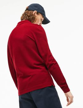 Thumb polo lacoste classic fit ml granate de hombre 2