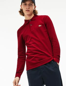 Thumb polo lacoste classic fit ml granate de hombre 1